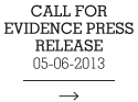 Call for Evidence Press Release 05-06-2013
